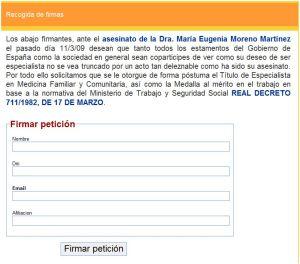 Sigue el enlace para unirte a la petición